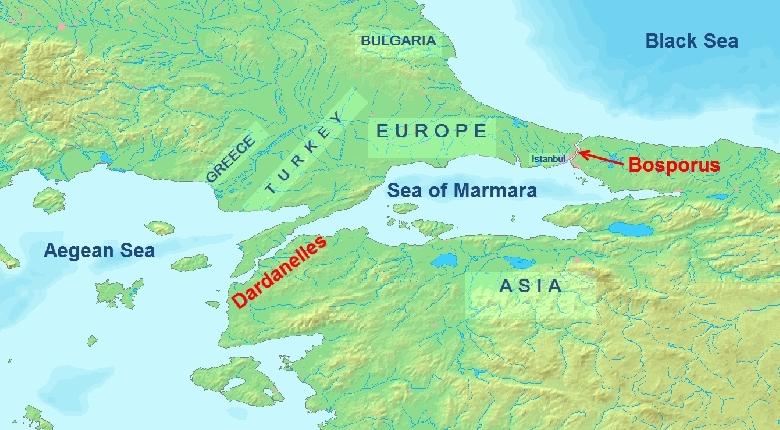 0 Black Sea : Mediterranean Map